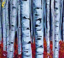 Aspen Forest Tall by DaveToveyArt
