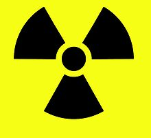Radioactive Hazard trefoil symbol in black & yellow by TOM HILL - Designer