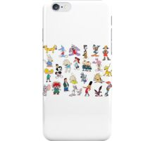 90s Cartoon Characters iPhone Case/Skin