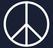 Peace symbol CND Campaign for Nuclear Disarmament white by TOM HILL - Designer