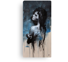 GIRL SMOKING BLUES Canvas Print