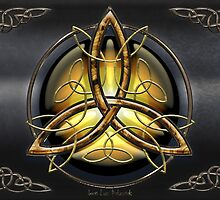 Celtic Triquetra on pearl by Bluesax