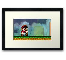 Super Mario retro painted pixel art Framed Print