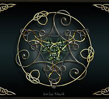 Green Romantic Celtic Triskel by Bluesax