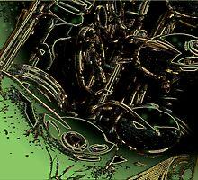 abstract sax keywork  by Bluesax