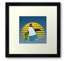 Northern Rockhopper Penguin on Spring Break Framed Print