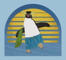 Northern Rockhopper Penguin on Spring Break T-Shirt