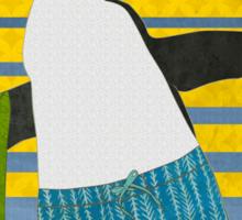 Northern Rockhopper Penguin on Spring Break Sticker