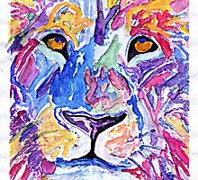 Abstract Lion  by artofdoodles