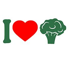 I love Herz broccoli vegetable logo by Style-O-Mat