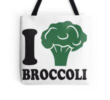 I love broccoli vegetable logo Tote Bag
