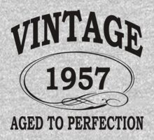 vintage 1957 aged to perfection by diannasdesign