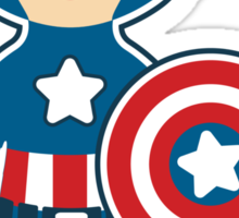 Cute Captain America Sticker