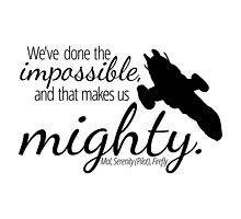 Impossible Makes Us Mighty by mezzotessitura