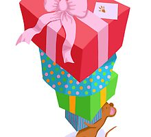 Mouse tower of presents by Leebling