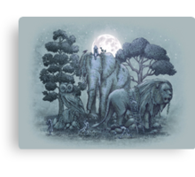 Midnight in the Stone Garden Canvas Print