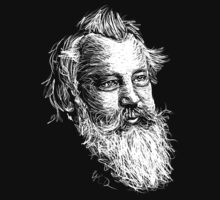 Brahms drawing in white by fortissimotees