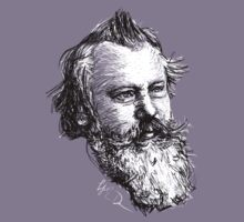 brahms drawing in black on white by fortissimotees