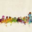 Wilmington Delaware Skyline Cityscape by ArtPrints