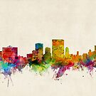 El Paso Texas Skyline Cityscape by Michael Tompsett