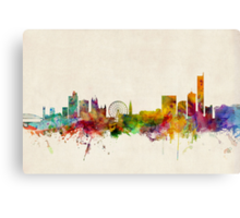 Manchester England Skyline Cityscape Canvas Print