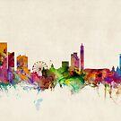 Birmingham England Skyline Cityscape by Michael Tompsett