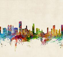 Honolulu Hawaii Skyline Cityscape by ArtPrints