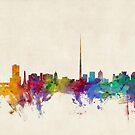 Dublin Ireland Skyline Cityscape by Michael Tompsett