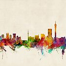 Johannesburg South Africa Skyline by ArtPrints