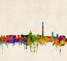 Washington DC Skyline Skyline by ArtPrints