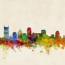 Nashville Tennessee Skyline Cityscape by Michael Tompsett