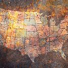 United States of America Map by Michael Tompsett