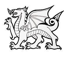 Welch Flag Dragon by ninibursnarfsky