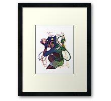 Selina Kyle Catwoman Punk Rocker Hipster Framed Print