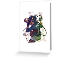 Selina Kyle Catwoman Punk Rocker Hipster Greeting Card