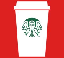 Doctor Who weeping angel meet starbucks by nofixedaddress