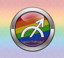 Sagittarius - LGBT Pride Rainbow  by LiveLoudGraphic