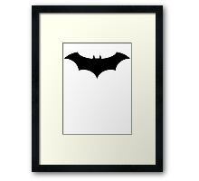 Batman symbol - Alex Ross Style Framed Print