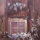 Oil Painting The old house by Vesela Yotseva