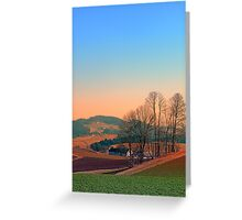 Trees, panorama and sunset | landscape photography Greeting Card