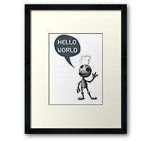 Hello World! Framed Print