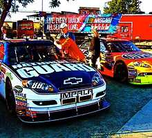 Dale Earnhardt Jr. and Jeff Gordon by HellGateStudios