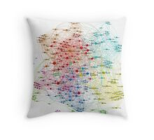The Graph Of Baseball Players Throw Pillow