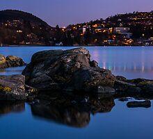 Troldhaugen sunset, Norway, Bergen by Paulius Bruzdeilynas