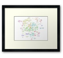 The Graph Of Mathematicians Framed Print