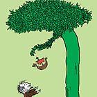 Floki loved the tree very, very much. by kahahuna