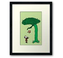 Floki loved the tree very, very much. Framed Print