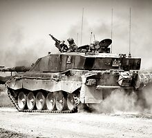 """Heavy Armour""- Challenger 2 Main BattleTank (MBT) British Army by Andrew Harker"