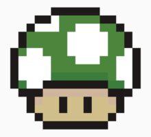 Green Mario Mushroom by neysalovescats