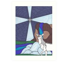 Tarot - The Star - Unicorn Art Print
